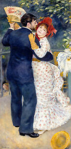 Renoir 1883, Dance in the Country, Fade Resistant HD Art Print or Canvas