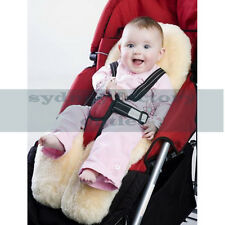 MEDICAL GRADE Australian Sheepskin Baby Pram Stroller Car Seat Liner Cream