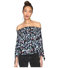 Free People We the Free Lexington Off the Shoulder Top Black Floral Size Large