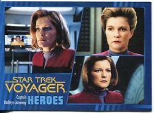 Star Trek Voyager Heroes And Villains Parallel Base Card #1 Cap. Kathryn Janeway