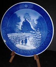 Vintage 1973 Royal Copenhagen Porcelain Christmas Plate Going Home For Christmas