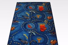 enfants Cars Routes Tapis bleu 200x650 cm DISNEY'S CARS