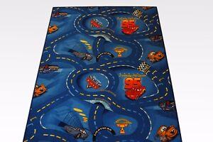 Bambini Cars Strade Tappeto Blu 190x200 CM Disney Cars