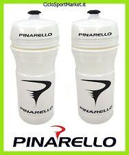 2 x Borracce PINARELLO 66mm Bianco / White- 2 x Water Bottle PINARELLO White