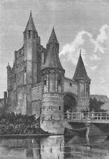 NETHERLANDS. Haarlem. Amsterdam Gate c1885 old antique vintage print picture