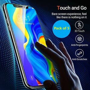 5x Tempered Glass Screen Protector For iPhone 7,8,12 Pro Max 11 Pro X XR XS Max