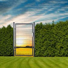 Gartentüre Gartentor Zauntüre Zauntor Metalltüre Türe 100x160 cm Anthrazit Grau