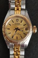 Ladies Tudor Princess OysterDate Case by Rolex 14k & Stainless Watch Ref 92313