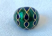 BANANA REPUBLIC JEWELRY Green + Blue Enamel Gold Cocktail Ring NEW Sz 6 LAST ONE