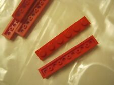 Lego Lot Of 5 Red 1x6 Plates (028-24)