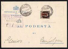 STORIA POSTALE RSI 1944 Cartolina da Genova a Campoligure (FS1) Raybaudi