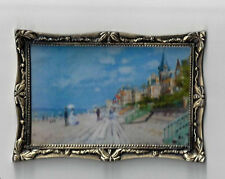 SOLID BRASS FRAMED FAMOUS OIL PAINTING MINIATURE DOLL HOUSE FURNITURE