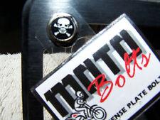 License Plate Bolts Set 4 Skull and Cross Bones HD Harley Rat Rod Bobber Tracker