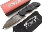 Manual Ball Bearing Pivot Flipper G10 Pocket Knife Two Tone Stonewash Blade EDC