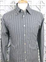 ETON Men's Black Stripes Dress Shirt XL 17.5 - 44 Button Up EUC Cotton