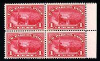 USAstamps Unused VF US Parcel Post Block Scott Q1 OG MHR