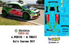 DECAL  1/43 -  SKODA FABIA R5  -  PERICO  - Rally SANREMO   2017