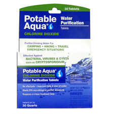 Potable Aqua Water Purification Chlorine Dioxide Tablets - 30 Pack