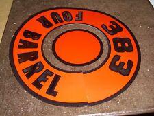 1972 1973 1974 DODGE MONACO POLARA CORONET CHARGER 400 4V AIR CLEANER LID DECAL