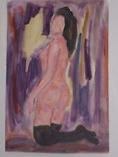 Tableau peinture Huile sur papier nu 32cm/22cm oeuvre originale Picard ARTPRICE