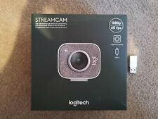 Logitech Streamcam Webcam - White - 1080p - Auto Focus - Built in mic - BNIB