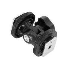 Dual Hot Shoe Mount Adapter Holder Bracket for Video Light Stand Camera