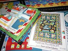 "Twin Size Quilt Kit! ""Search & See"" Road for Baby Toddler Boys In the Beginning"