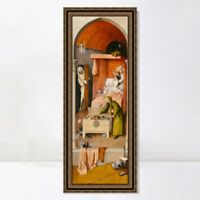 """Framed Canvas Art Giclee Print Death and The Miser by Hieronymus Bosch 16""""x48"""""""
