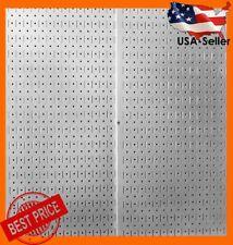 Pegboard Wall Mount Panel Board Steel Metal Garage Storage Organizer Hanger Tool