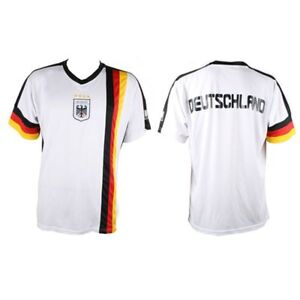 HATS Deutschlandtrikot Weiß XS-XL WM EM Herrentrikot Damentrikot Fußballtrikot