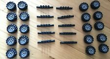K'Nex Knex Wheels Replacement Toy Parts Rims Axles Hubs Lot of 20 To Make 5 Cars