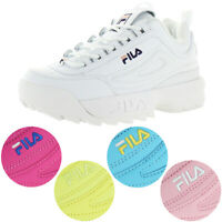 Fila Women's Disruptor II Premium Leather EVA Retro Chunky Fashion Sneaker