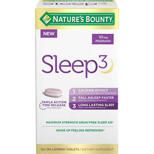 Nature's Bounty Sleep3 Tri-Layer Tablets (120 ct.), Exp 05/2022