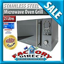 25Litre Stainless Steel Digital MICROWAVE OVEN 1400W Quartz GRILL Mirror Finish