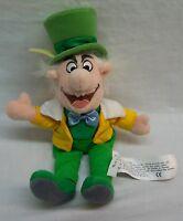 "Walt Disney Store Alice in Wonderland MAD HATTER 9"" Bean Bag STUFFED ANIMAL TOY"
