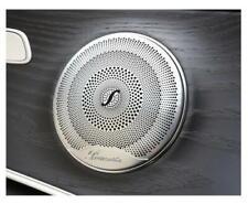 * 4x Burmester Car Audio Speaker Trim Metal Cover Mercedes Trim Cover 8cm Size *