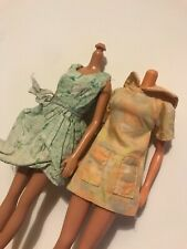 2x Vtg 6th Scale Doll Fashions: 60s (Multicolour) Dresses For Tammy/Barbie/Sindy