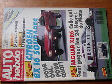 $$v Revue Auto Hebdo N°577 Citroen BX 16  Jaguar XJR6  Simca Sport  GP Pau