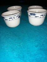 4 Oriental Tea Cups Dip Bowls Cameo Durable China