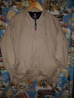 Vintage CHAPS RALPH LAUREN Harrington Jacket Bomber Coat Collared Biege Medium