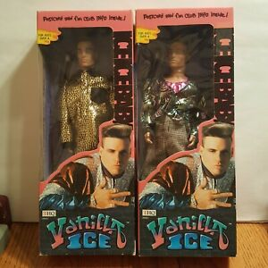 Vanilla Ice Action Figure Doll Lot, Set of 2 - New in Box NIB 90s Toys Complete