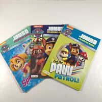Paw Patrol Jumbo Coloring and Activity Books 3 PACK [CA-H]