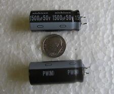 1500uF 50V 105°C Nichicon UPW1H152MHD6A Low ESR Electrolytic Capacitors 10 pcs