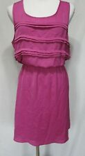 Trixxi Orchid Sleeveless Casual Dress Womens XL Pleating Detail Lined Skirt
