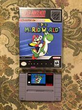 Super Mario World Game Cartridge (Super Nintendo, SNES, 1992)