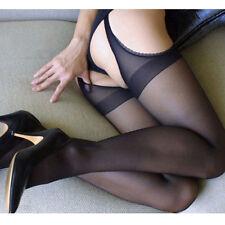 Mujer Sexy antideslizante a la altura del muslo jacquard Perforado Medias