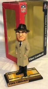 """2004 GREEN BAY PACKERS VINCE LOMBARDI ICE BOWL """"TICKET BASE"""" FOCO BOBBLEHEAD #'d"""