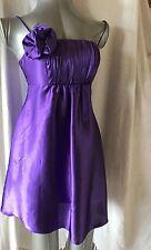 Mini Vestido JESSICA MCCLINTOCK FOR GUNNE SAX, Talla 3, Púrpura Corto/Cadena de calzado,