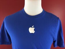 Apple Store Blue with White Apple Uniform Logo T-Shirt Medium