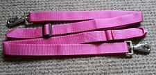 Leg Straps, Cerise x 2 (a pair) Stable/Turnout rug.Trigger clip and loop. BN!!